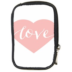Love Valentines Heart Pink Compact Camera Cases
