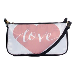 Love Valentines Heart Pink Shoulder Clutch Bags