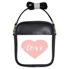 Love Valentines Heart Pink Girls Sling Bags