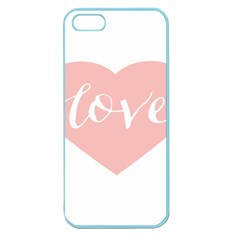 Love Valentines Heart Pink Apple Seamless iPhone 5 Case (Color)