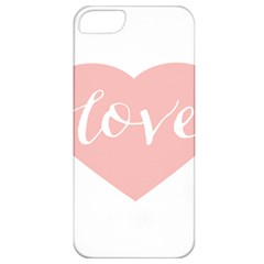 Love Valentines Heart Pink Apple iPhone 5 Classic Hardshell Case