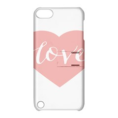 Love Valentines Heart Pink Apple iPod Touch 5 Hardshell Case with Stand
