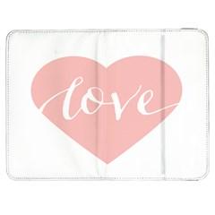Love Valentines Heart Pink Samsung Galaxy Tab 7  P1000 Flip Case