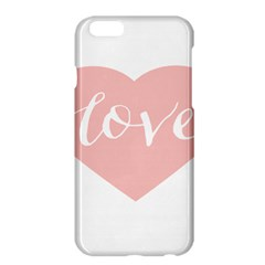 Love Valentines Heart Pink Apple iPhone 6 Plus/6S Plus Hardshell Case