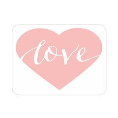 Love Valentines Heart Pink Double Sided Flano Blanket (Mini)
