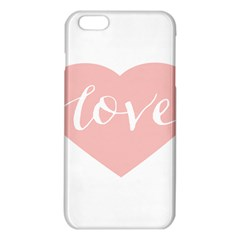 Love Valentines Heart Pink iPhone 6 Plus/6S Plus TPU Case