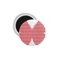Hearts Butterfly Red Valentine Love 1.75  Magnets