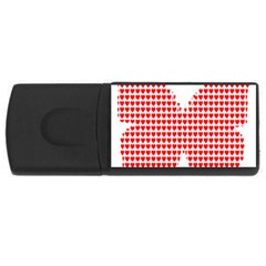 Hearts Butterfly Red Valentine Love USB Flash Drive Rectangular (2 GB)