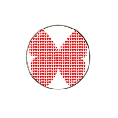 Hearts Butterfly Red Valentine Love Hat Clip Ball Marker (4 pack)