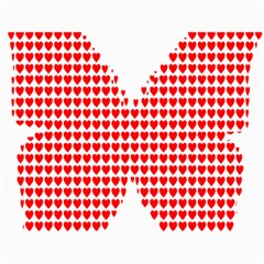 Hearts Butterfly Red Valentine Love Canvas 18  x 24