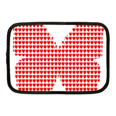 Hearts Butterfly Red Valentine Love Netbook Case (medium)