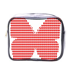 Hearts Butterfly Red Valentine Love Mini Toiletries Bags