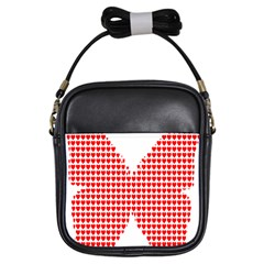 Hearts Butterfly Red Valentine Love Girls Sling Bags