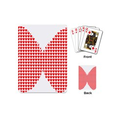 Hearts Butterfly Red Valentine Love Playing Cards (Mini)