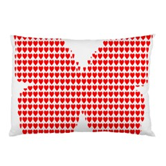 Hearts Butterfly Red Valentine Love Pillow Case (Two Sides)