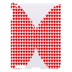Hearts Butterfly Red Valentine Love Apple iPad 3/4 Hardshell Case