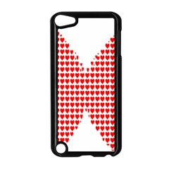 Hearts Butterfly Red Valentine Love Apple iPod Touch 5 Case (Black)