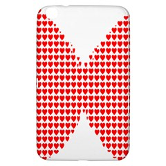 Hearts Butterfly Red Valentine Love Samsung Galaxy Tab 3 (8 ) T3100 Hardshell Case