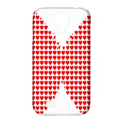 Hearts Butterfly Red Valentine Love Samsung Galaxy S4 Classic Hardshell Case (PC+Silicone)