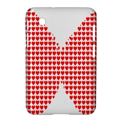 Hearts Butterfly Red Valentine Love Samsung Galaxy Tab 2 (7 ) P3100 Hardshell Case