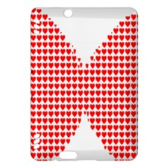 Hearts Butterfly Red Valentine Love Kindle Fire HDX Hardshell Case