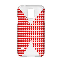 Hearts Butterfly Red Valentine Love Samsung Galaxy S5 Hardshell Case