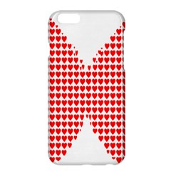Hearts Butterfly Red Valentine Love Apple iPhone 6 Plus/6S Plus Hardshell Case