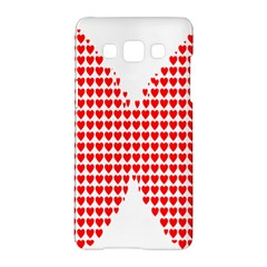 Hearts Butterfly Red Valentine Love Samsung Galaxy A5 Hardshell Case