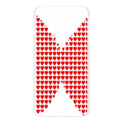 Hearts Butterfly Red Valentine Love Apple Seamless iPhone 6 Plus/6S Plus Case (Transparent)