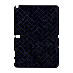 Brick2 Black Marble & Blue Leather Samsung Galaxy Note 10 1 (p600) Hardshell Case