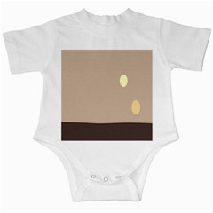 Minimalist Circle Sun Gray Brown Infant Creepers