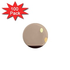 Minimalist Circle Sun Gray Brown 1  Mini Magnets (100 pack)