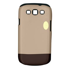 Minimalist Circle Sun Gray Brown Samsung Galaxy S III Classic Hardshell Case (PC+Silicone)
