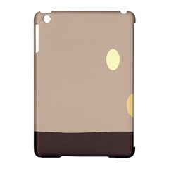 Minimalist Circle Sun Gray Brown Apple iPad Mini Hardshell Case (Compatible with Smart Cover)