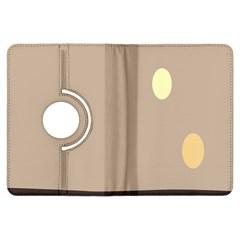 Minimalist Circle Sun Gray Brown Kindle Fire HDX Flip 360 Case