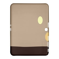 Minimalist Circle Sun Gray Brown Samsung Galaxy Tab 4 (10.1 ) Hardshell Case