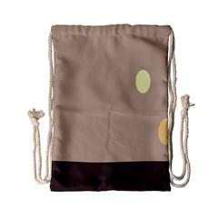 Minimalist Circle Sun Gray Brown Drawstring Bag (Small)