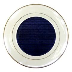 BRK1 BK-MRBL BL-LTHR (R) Porcelain Plates
