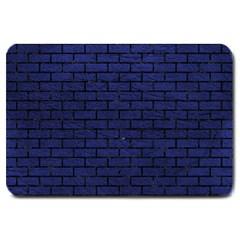 BRK1 BK-MRBL BL-LTHR (R) Large Doormat