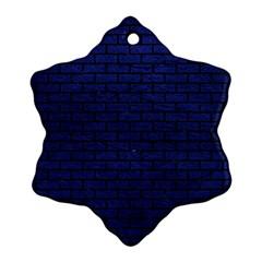 BRK1 BK-MRBL BL-LTHR (R) Ornament (Snowflake)