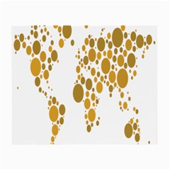 Map Dotted Gold Circle Small Glasses Cloth