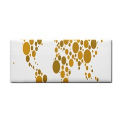 Map Dotted Gold Circle Cosmetic Storage Cases