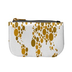 Map Dotted Gold Circle Mini Coin Purses