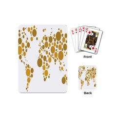 Map Dotted Gold Circle Playing Cards (Mini)