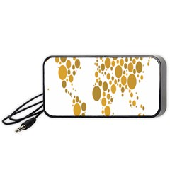 Map Dotted Gold Circle Portable Speaker (Black)