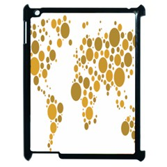 Map Dotted Gold Circle Apple iPad 2 Case (Black)