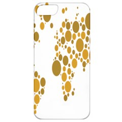 Map Dotted Gold Circle Apple iPhone 5 Classic Hardshell Case