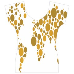 Map Dotted Gold Circle Women s V-Neck Cap Sleeve Top