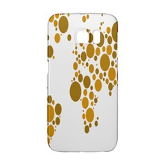 Map Dotted Gold Circle Galaxy S6 Edge
