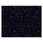 BRICK1 BLACK MARBLE & BLUE LEATHER Jigsaw Puzzle (Rectangular) Front